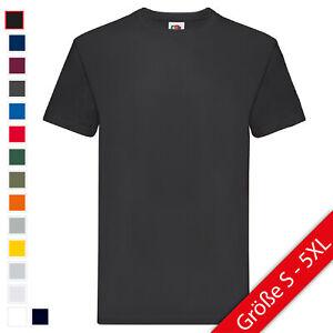 Fruit of the Loom PremiumUNISEX T-Shirt Damen Herren Basic Shirt NEU