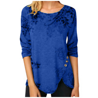 Women Long Sleeve Crew Neck Blouse Tops Ladies Casual T-Shirt Pullover Tops