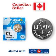 371 NEW! Renata Silver Oxide 1.55V Battery - 370, AG6, 171, SR920SW, SR69, SR921