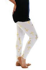 New Womens Leggings Plus Size Ladies Cross Foil Full Length Bottoms Nouvelle