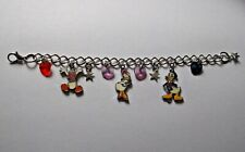 DISNEY DONALD & DAISY DUCK Adjustable Charm BRACELET Free GIFT Bag