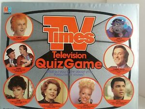 TV Times Vintage 1985 MB Television Quiz Family Party Game Complete