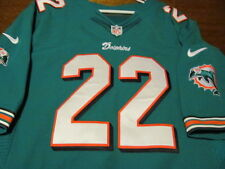 AUTHENTIC NIKE ELITE JERSEY MIAMI DOLPHINS REGGIE BUSH TEAL 56 NEW $250