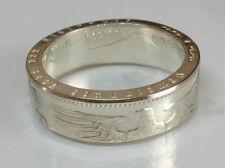 Münzring 5 Reichsmark Adler 1936 -1939 Silber 900er Coin Ring poliert