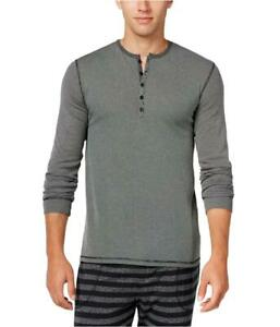 Kenneth Cole Men's Black Ribbed Henley Sleepwear Shirt Size s NWT MSRP A1