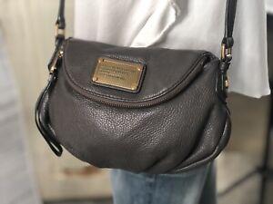 MARC BY MARC JACOBS Mini Q Natasha Gray Leather Crossbody Bag Original Style
