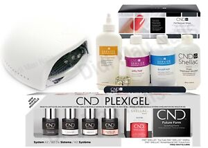 CND PLEXIGEL SYSTEM KIT with UV LAMP & Large Size Essentials