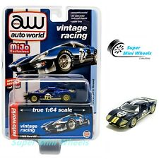 Auto World 1:64 Ford Gt 1965 #72 Dirty version (Dark Blue) Mijo Exclusive