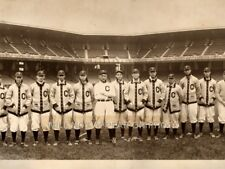"1910 Cleveland Indians Baseball Team Photo Panoramic Photograph 25"" Long NICE!"