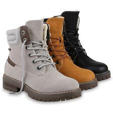 Damen Worker Boots Warm Gefütterte Stiefeletten Outdoor Booties 831806 Schuhe