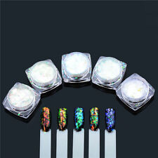 Holographic Irregular Glitter Mirrow Chrome Powder NO Polish Magic Nails Pigment