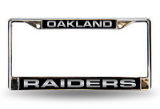 NFL Oakland Raiders, Metal License Plate Frame (LASER CHROME FRAME)