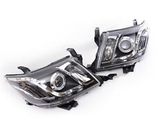 LED Projector with Angle Eye Headlight Fit Toyota Hilux Vigo 7th Gen 2012 - 14
