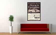 "1954 FORD CUSTOMLINE V8 AD PRINT WALL POSTER PICTURE 33.1""x23.4"""