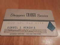 Shoppers Charge Service card credit card grey vintage charge card
