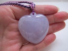 100% Natural type A lavender jadeite jade heart pendant J00171