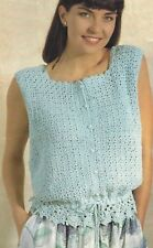 Ladies Summer Camisole Cotton Top Crochet Pattern 4ply1129