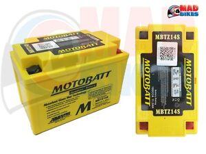 MBTZ14S MOTOBATT HIGH POWER AGM MOTORCYCLE BATTERY FOR YTZ14S & CTZ14S