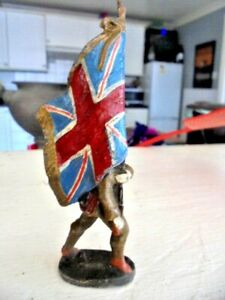 Rare Lineol Elastolin Germany British Army Flag Bearer  FROM HOUSE CLEARANCE