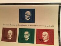 Germany Churchill and world leaders mint never hinged stamps sheet R21774
