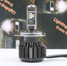 1PC Motorcycle Bike LED CSP Chip Headlight Hi & Lo H4 9003 6000K 40W 4000LM Bulb