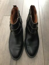pikolinos 41 Spain Black Leather Boots Booties Ankle Fall Size 10 Wow!!