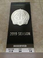 2019 Oakland Raiders Ticket Stub Book Full Season Unused Rare * FINAL SEASON *