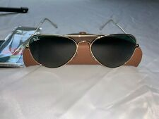 Ray-Ban Aviator Sunglasses RB3025 58mm L0205 Gold Frame with Green Lenses