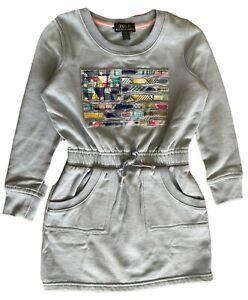 Girls Ex Ralph Lauren Girls A/W 21 knee length sweatshirt tunic dress L 12- 14