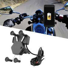Motorcycle Bicycle Cellphone Holder Mobile Phone Mount Srand + USB Charger
