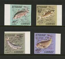 S880  Gabon  1975   fish marine  IMPERF   4v.    MNH
