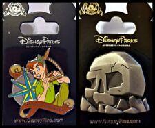 Disney Parks 2 Pin Lot PETER PAN Never Grow Up + Skull Cave