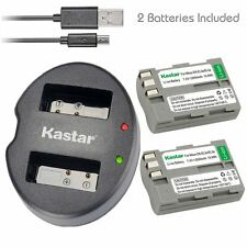 Kastar EN-EL3 Battery& Dual USB Charger for Nikon D50 D70 D70s D80 D90 D100 D200