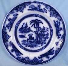 Honc Flow Blue Plate P Regout & Co Mastricht Holland Circa 1900 Good Condition