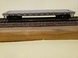 Vintage, HO, Flat Bed Train Car Tender, N Y C 48 02 54, Knuckle Couplers