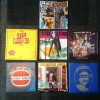 "Sex Pistols Singles Rare 7"" PS x 6 Box Set UNPLAYED Black Leather Punk The Clash"