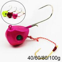 frente Duro Extra single Hook Cabeza de señuelos de pesca Crank Bait Jig Head