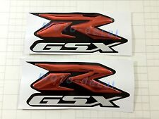 GSXR Raised 3D Chrome Red Decal Emblem Fairing Sticker GSXR1000 750 600 Bling