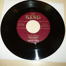 COUNTRY (HANK WILLIAMS TRIBUTE) 45 RPM RECORD -  HAWKSHAW HAWKINS - KING 1174