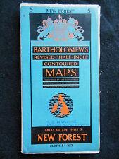 Vintage Ordnance Survey Folding Map of New Forest - 1955 - Gt Britain Sheet 5