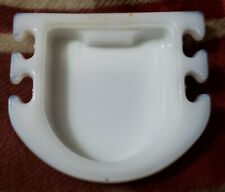 """Vintage Milk Glass Soap Dish & Tooth Brush Holder Mounts to Wall 4"""" ⬇️"""