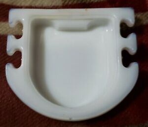 "Vintage Milk Glass Soap Dish & Tooth Brush Holder Mounts to Wall 4"" ⬇️"