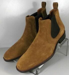 592298 SPBT50 Men's Shoes Size 9 M Tan Suede Boots Johnston & Murphy