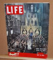 Life Magazine May 16, 1960 Bridal Procession Leaves the Abbey  Good Condition