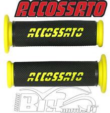 Puños Racing Accossato Bicolor hecho en caucho termoplástico AMARILLO