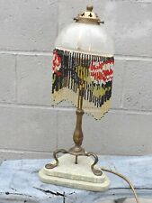 ANTIQUE BRASS PULLMAN TRAIN RAILWAY CARRIAGE LAMP & SHADE -