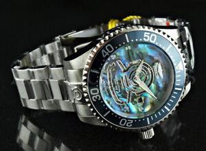 Invicta 47mm GRAND DIVER Automatic Ltd. Ed. ABALONE DIAL Silver Tone SS Watch