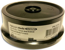 50-Pak FalconMedia ARCHIVAL GOLD White Thermal Hub 52X 80-Min CD-Rs (2 x 25-Pak)