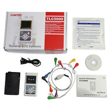 CONTEC 12-Lead Holter ECG 24hour Monitor TLC5000 Sync PC Software Analysis, FDA