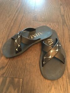 DolGen Boys Black Mesh Upper Slip On Slides-Flip Flops-13//1 OR 2//3-Water Shoes